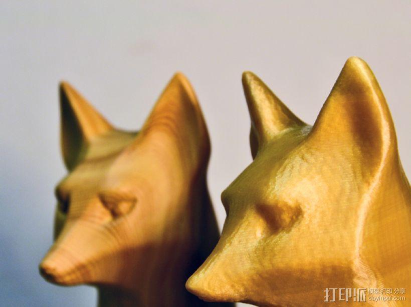木质狐狸 3D模型  图4