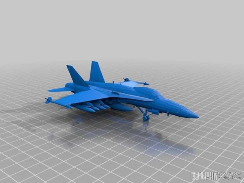 mc donnel 战斗机 3D模型  图1