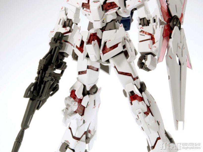 RX-0 Unicorn Gundam机械战士独角兽敢达 3D模型  图1
