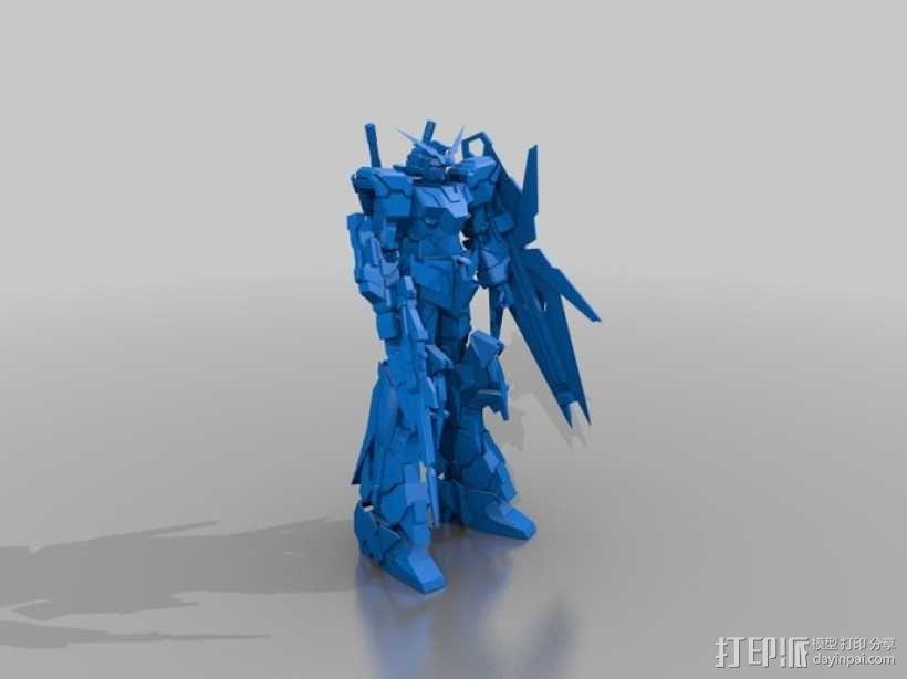 RX-0 Unicorn Gundam机械战士独角兽敢达 3D模型  图2