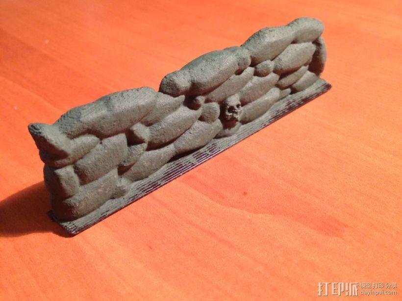 骷髅头石墙 3D模型  图3