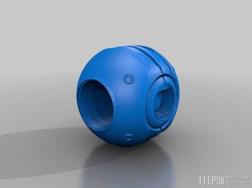 Wheatley惠特利智能球 3D模型  图3