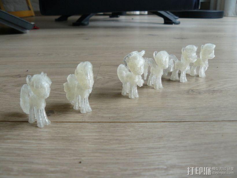 小马驹 彩虹小马 3D模型  图1