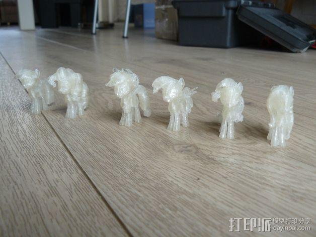小马驹 彩虹小马 3D模型  图2