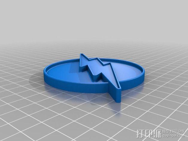 闪电徽章 3D模型  图2