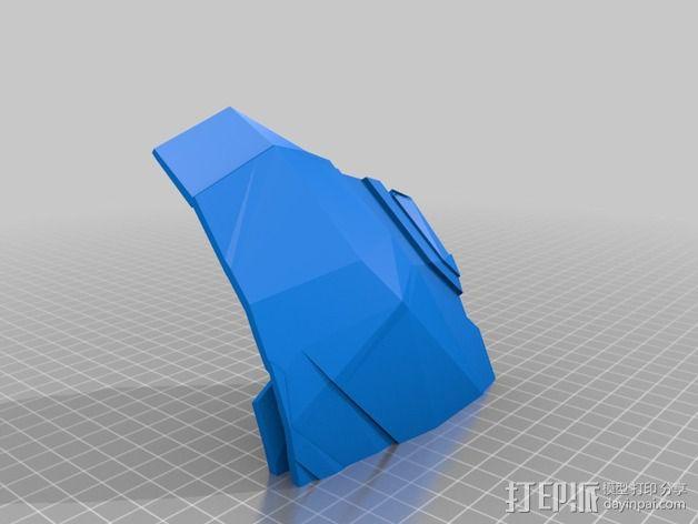 钢铁侠盔甲护胸 3D模型  图4