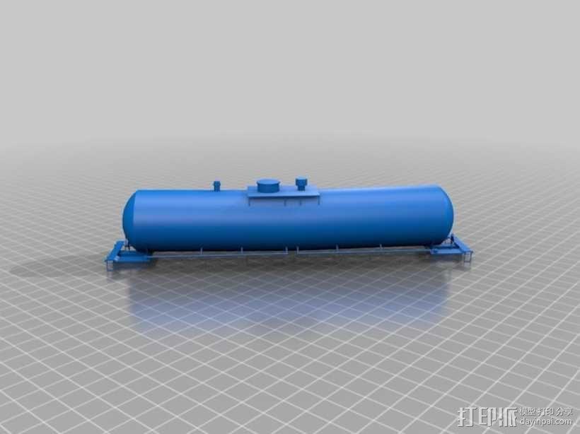 油槽车 3D模型  图1