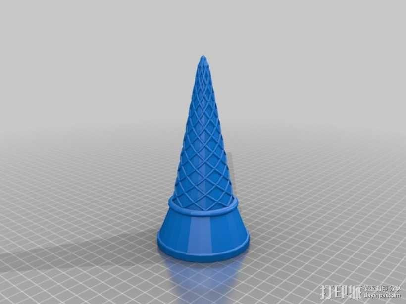 冰淇淋筒 3D模型  图1
