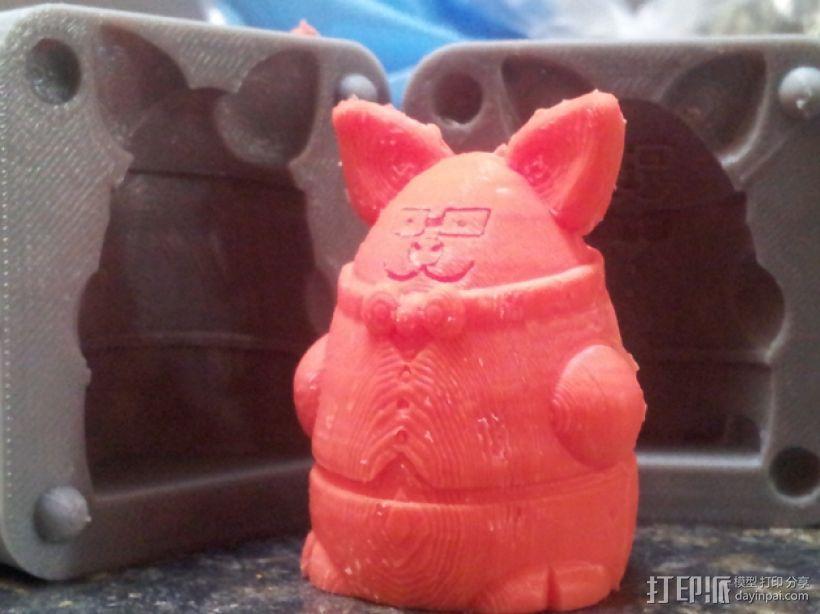 Pigdexter玩偶模具 3D模型  图1