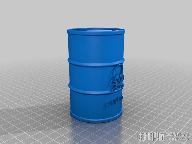化学试剂桶 3D模型  图1