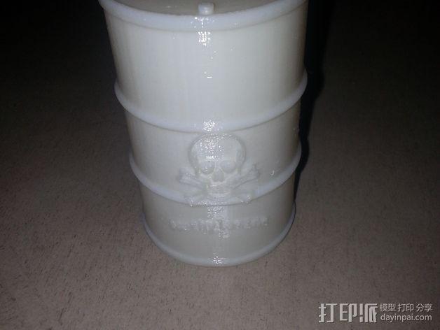化学试剂桶 3D模型  图2