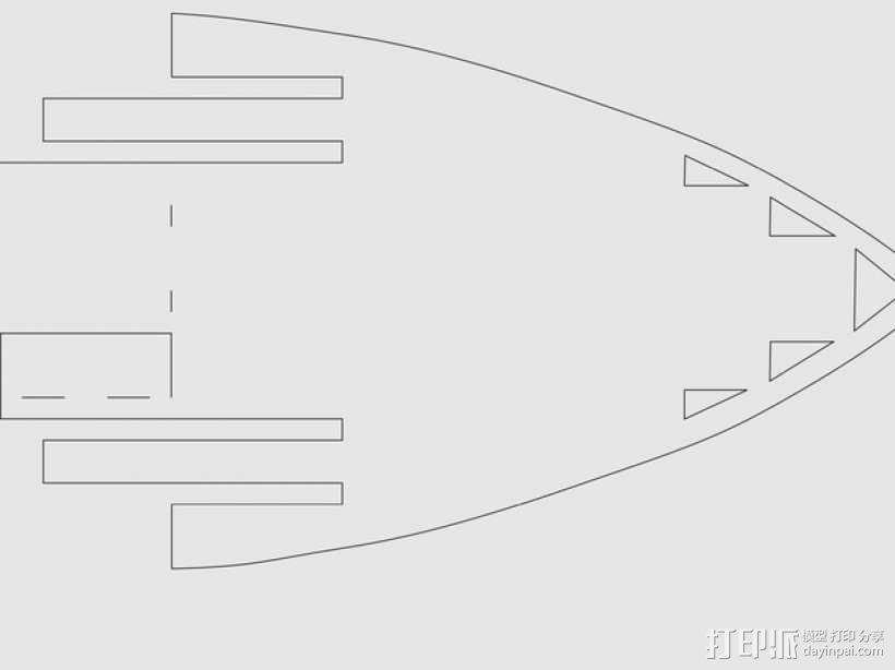 加利恩帆船 3D模型  图2