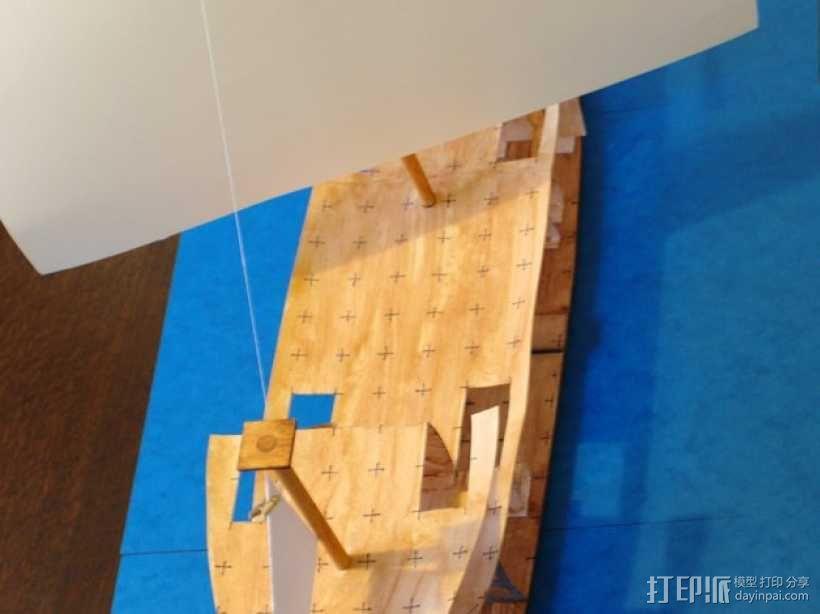 加利恩帆船 3D模型  图1