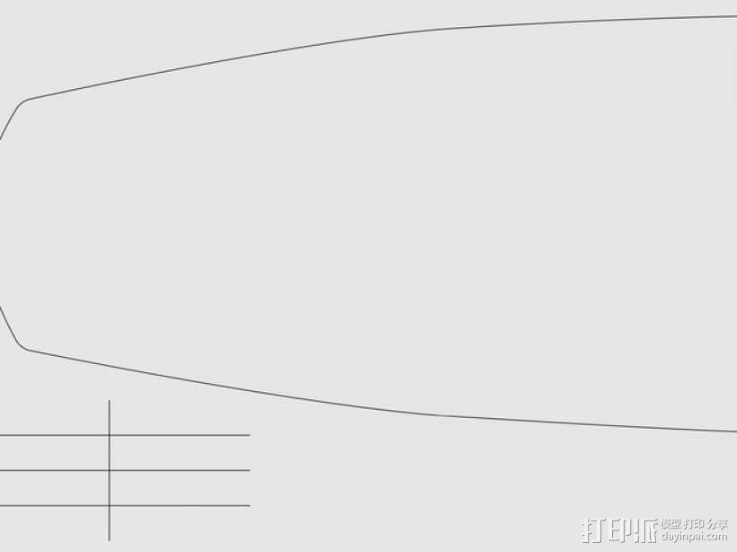 加利恩帆船 3D模型  图3