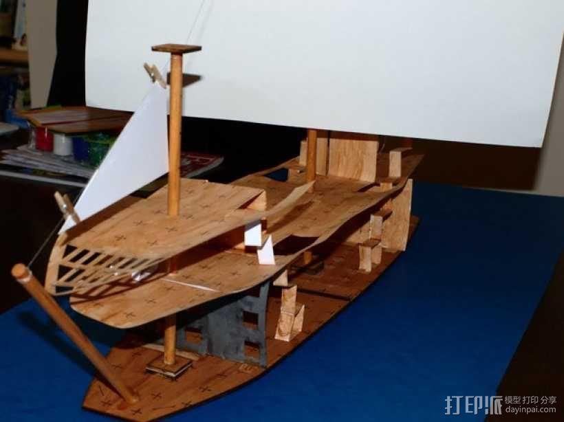 加利恩帆船 3D模型  图12