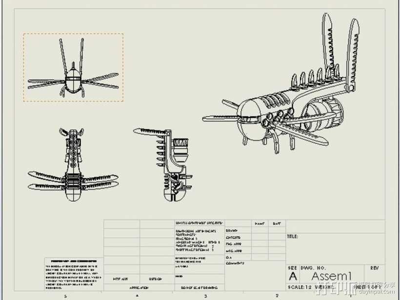 概念机 飞机模型 3D模型  图2