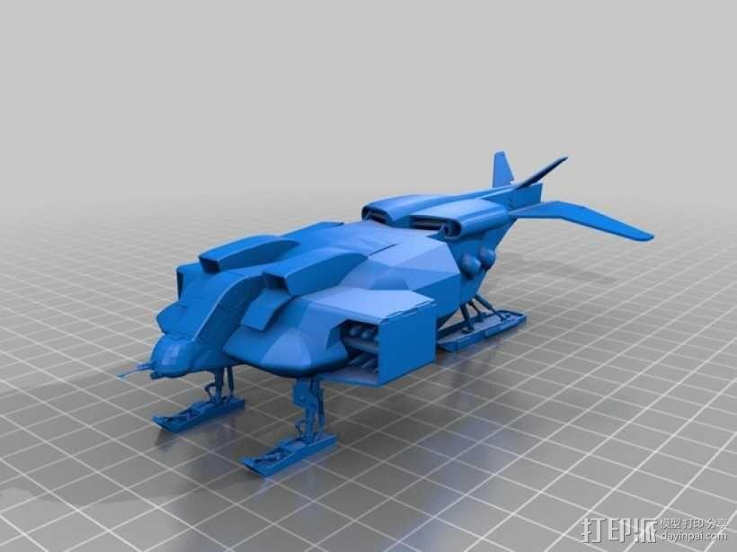 陆战队运输机 3D模型  图1
