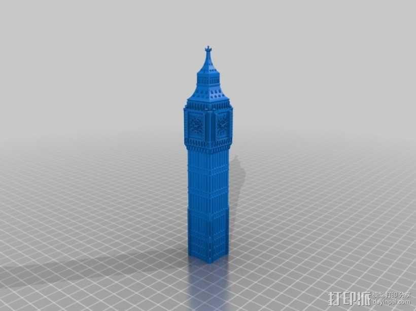 大本钟 3D模型  图1