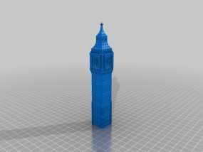 大本钟 3D模型