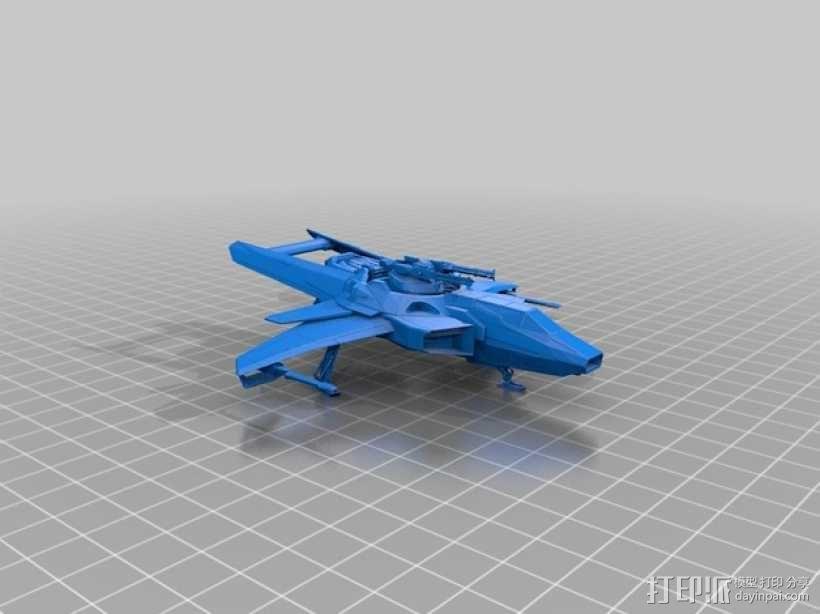 Anvil Aerospace F7C-M战斗机 3D模型  图1