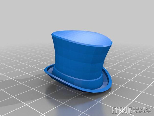 大礼帽 3D模型  图5