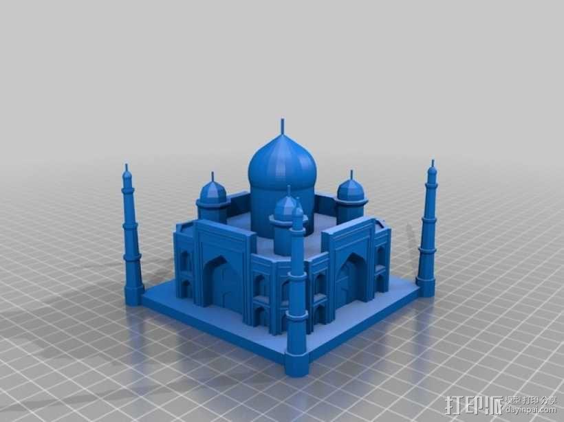 泰姬陵 3D模型  图2