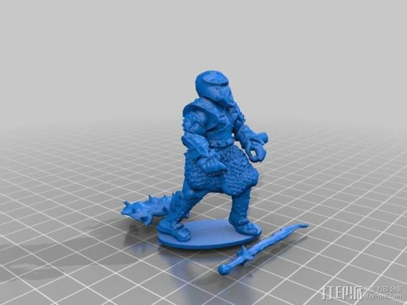 武士模型 3D模型  图1