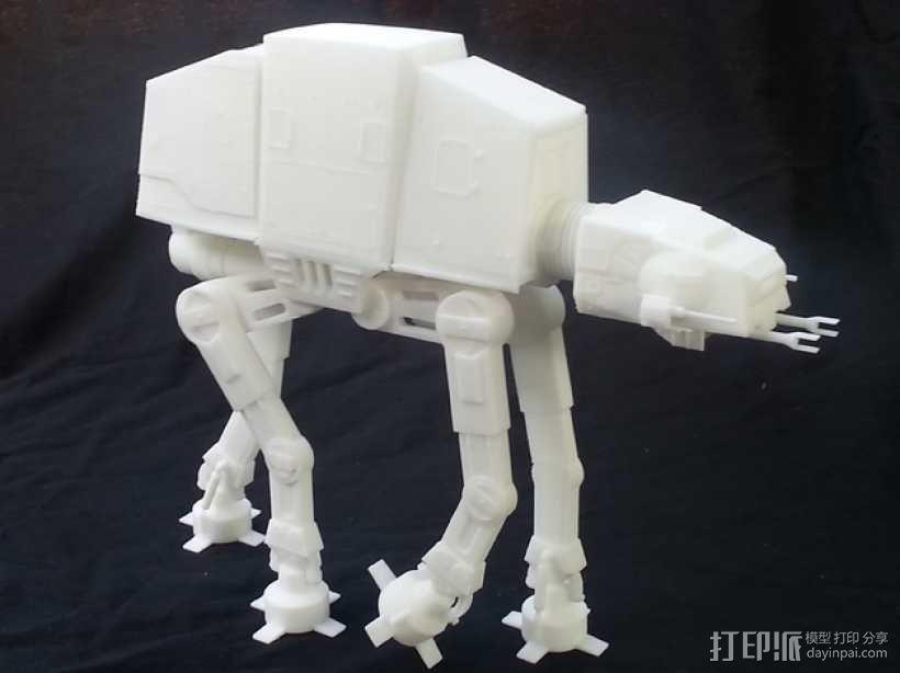 AT-AT帝国步行机 3D模型  图1