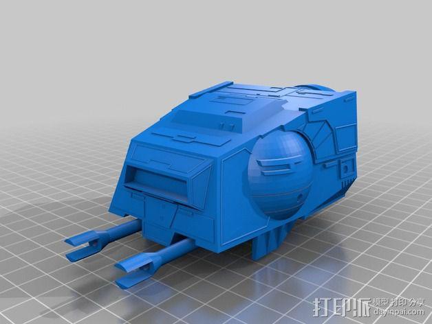 AT-AT帝国步行机 3D模型  图4