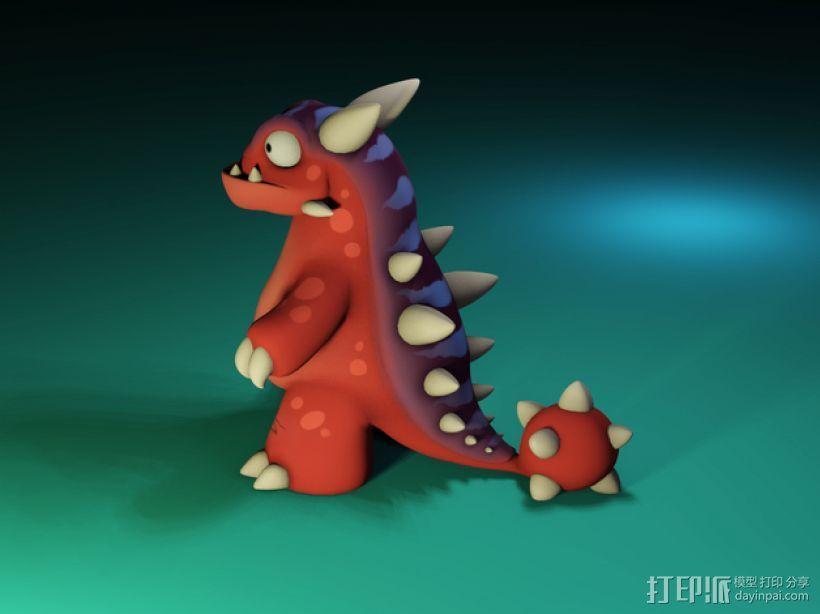小恐龙 3D模型  图1