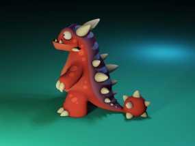 小恐龙 3D模型