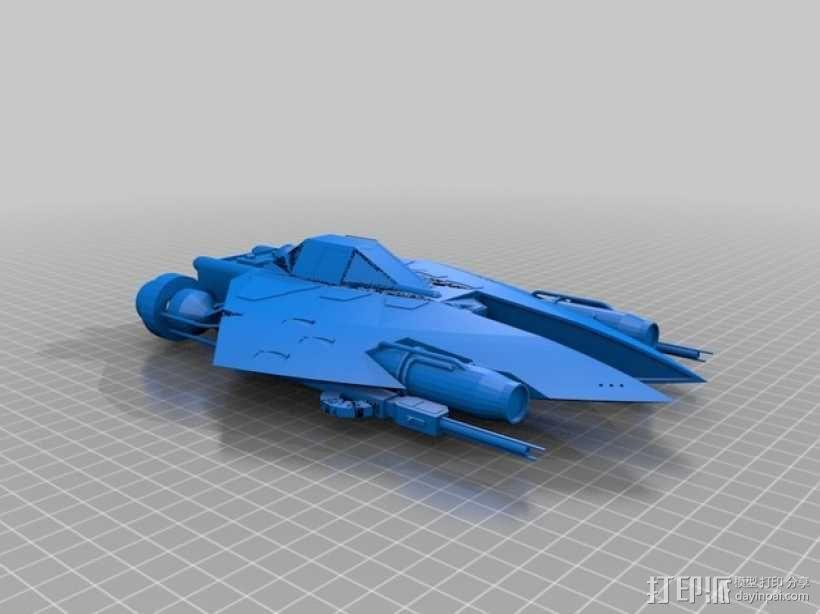 星球大战L-SR战斗机 3D模型  图1