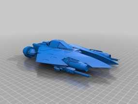 星球大战L-SR战斗机 3D模型