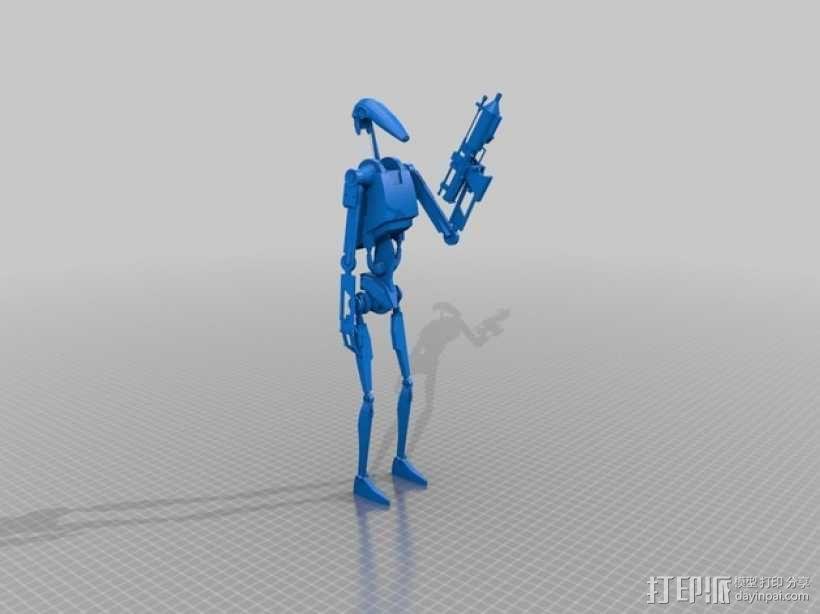 星球大战机器人 3D模型  图1