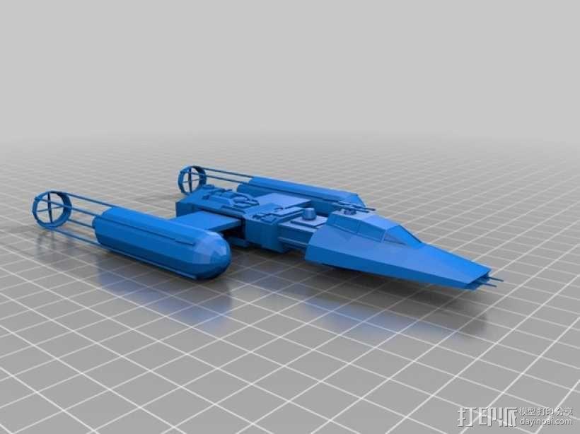 星球大战Y翼战斗机  3D模型  图1
