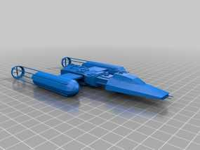 星球大战Y翼战斗机  3D模型