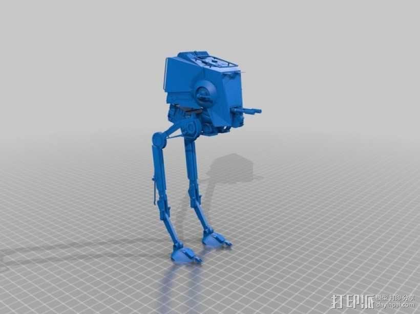 AT-ST侦查运输机 3D模型  图1