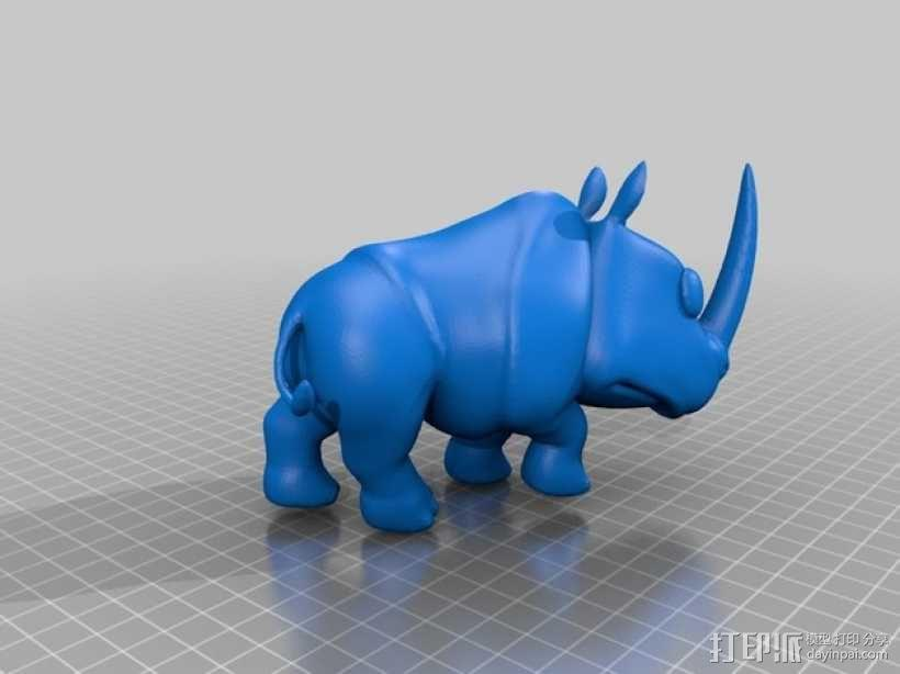 犀牛 3D模型  图2