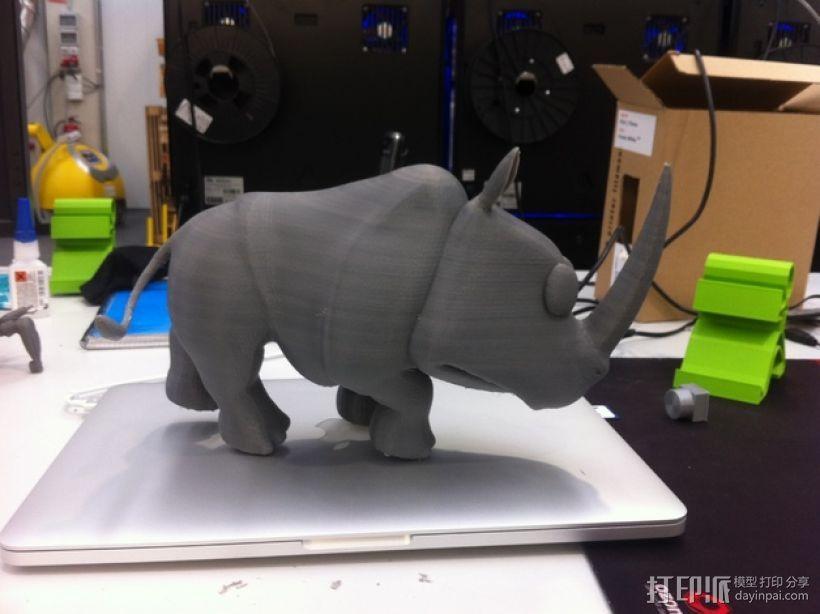 犀牛 3D模型  图3