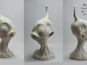 外星人ieyo半身像 3D模型