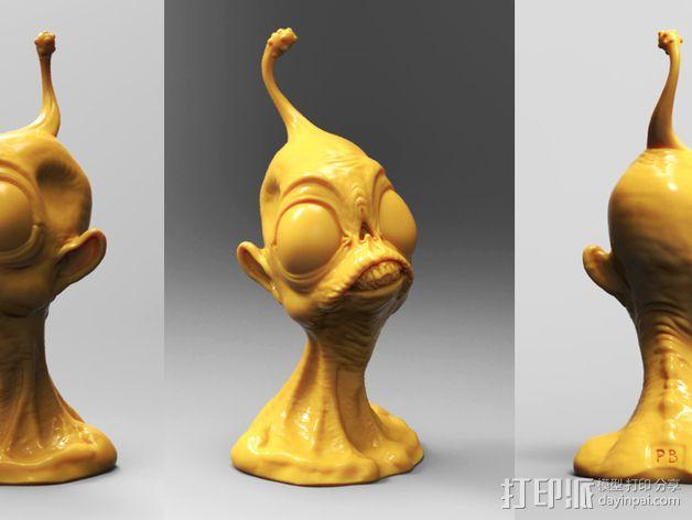 外星人ieyo半身像 3D模型  图3