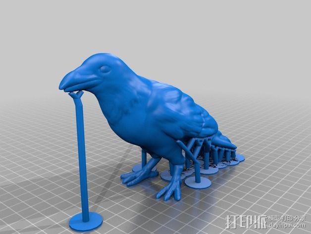乌鸦 3D模型  图4