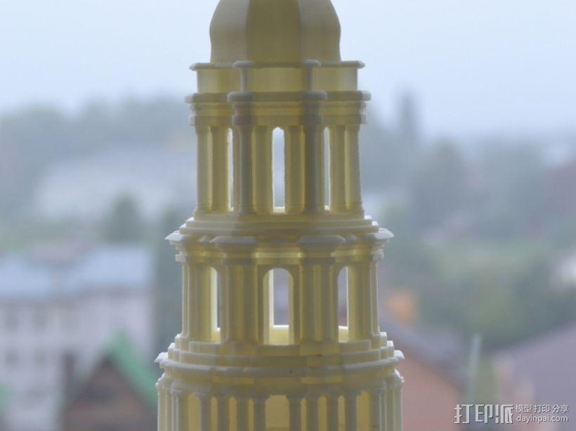 修道院钟楼 钟塔 3D模型  图1