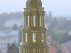 修道院钟楼 钟塔 3D模型