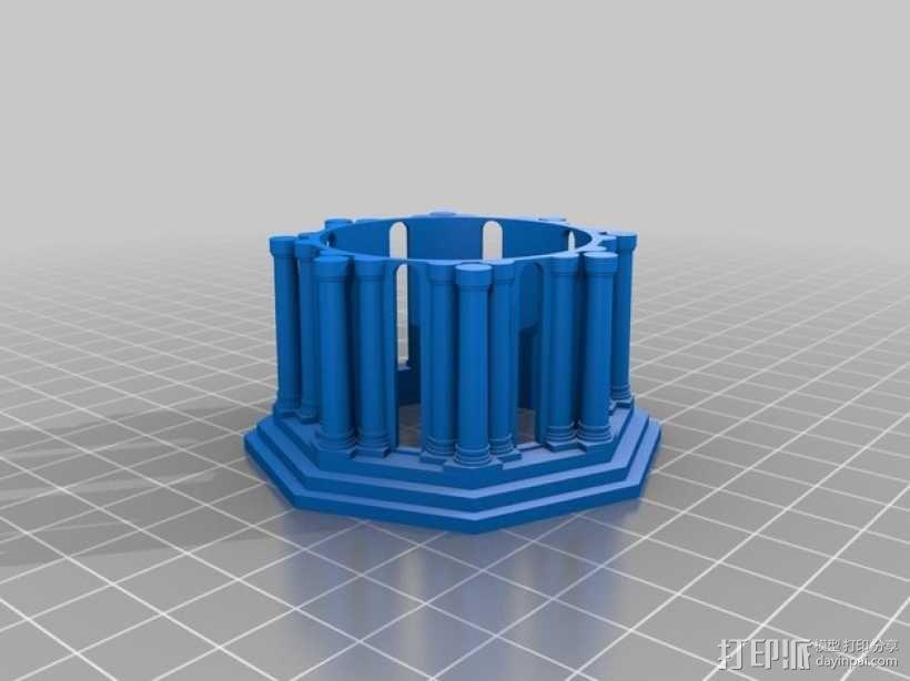 修道院钟楼 钟塔 3D模型  图8