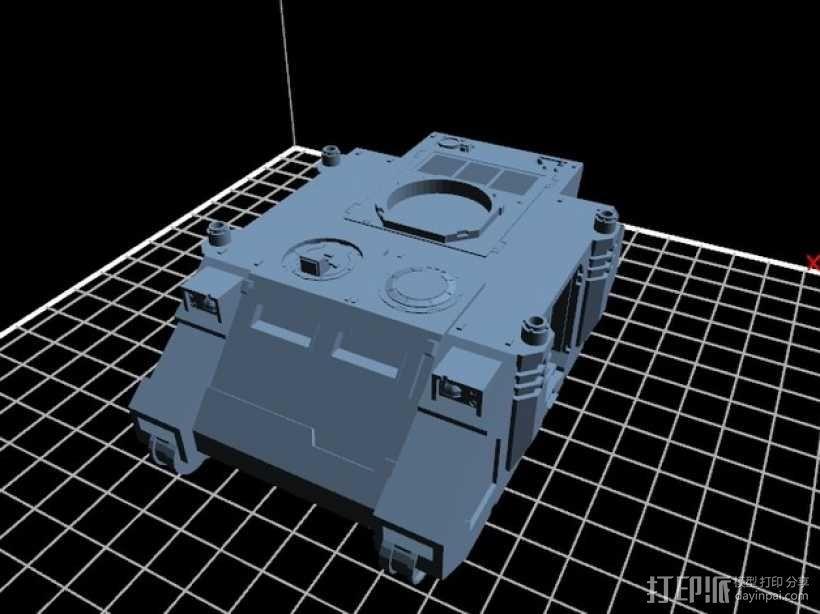 捕食者坦克 3D模型  图1
