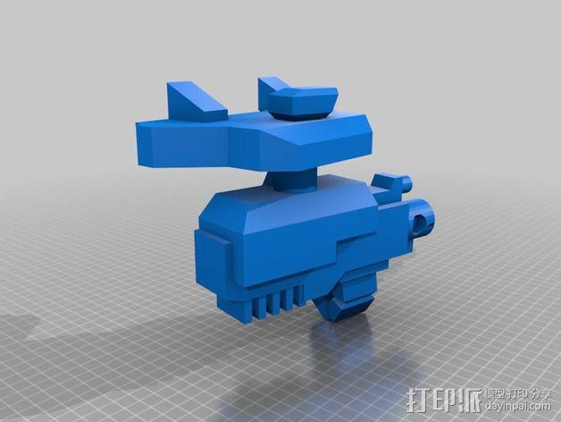 捕食者坦克 3D模型  图4