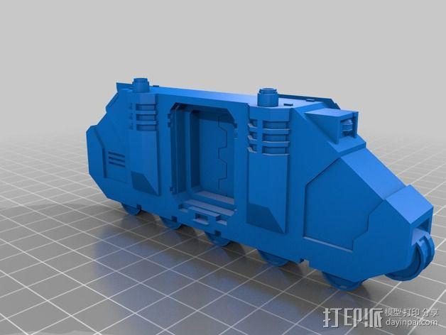 捕食者坦克 3D模型  图3
