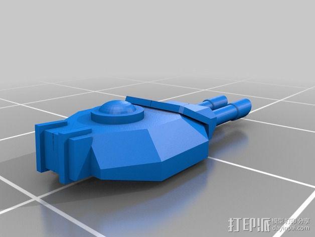 捕食者坦克 3D模型  图6