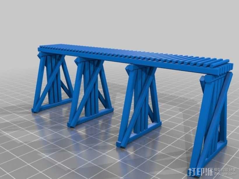 高架桥 火车道 3D模型  图2